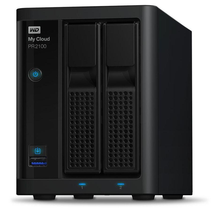 Сетевое хранилище WD MY CLOUD PR2100 WDBVND0040JBK-EEUE,  4Тб