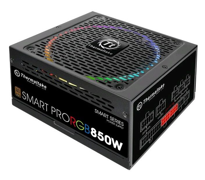 Блок питания THERMALTAKE SMART PRO RGB,  850Вт,  140мм,  черный, retail