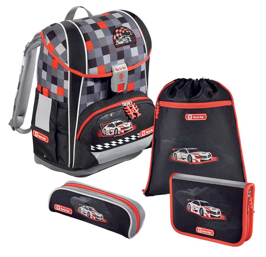 Ранец Step By Step Light2 Racer серый/черный/красный 4 предмета [00138512]