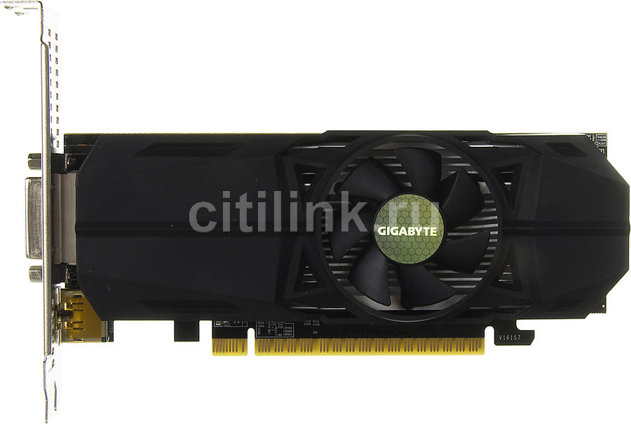 Видеокарта GIGABYTE GeForce GTX 1050,  GV-N1050OC-2GL,  2Гб, GDDR5, Low Profile,  OC,  Ret