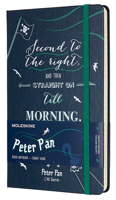 Блокнот Moleskine Limited Edition PETER PAN Large 130х210мм 240стр. линейка Pirates [lepn01cqp060]