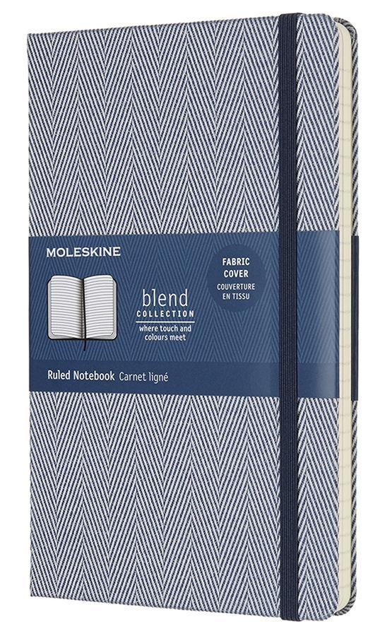 Блокнот Moleskine Limited Edition BLEND Large 130х210мм обложка текстиль 192стр. линейка голубой [lcbd02qp060b]