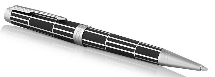 Ручка шариковая Parker Premier K565 Luxury (1931404) Black CT M черные чернила подар.кор.