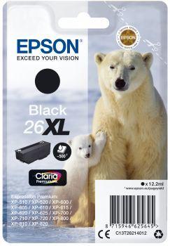 Картридж EPSON T2621 черный [c13t26214012]