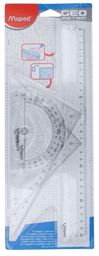 Набор Maped GEOMETRIC 242767 компл.:лин.30см/угол.21см/трансп.12см
