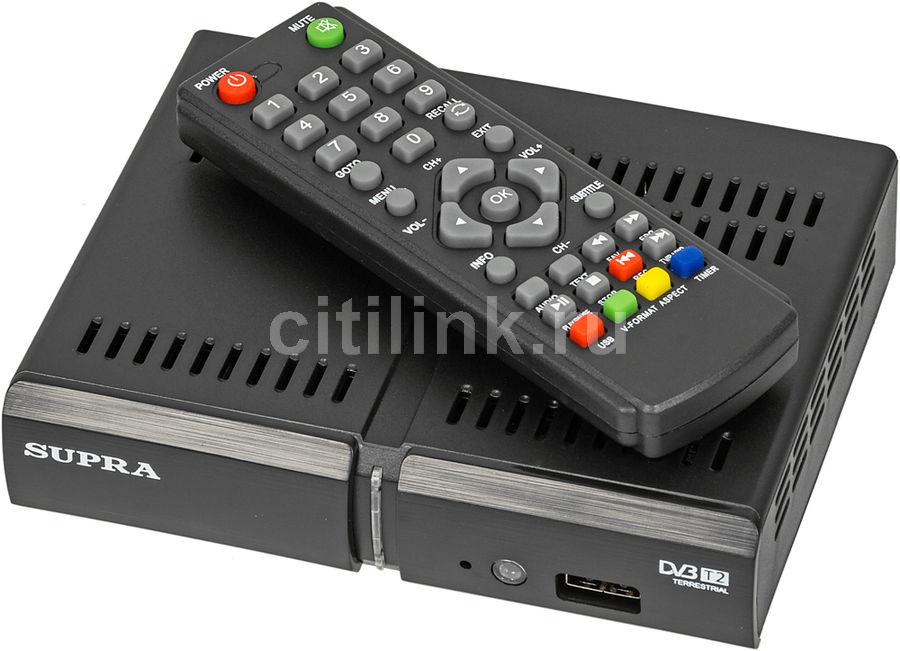 Ресивер DVB-T2 SUPRA SDT-91,  черный