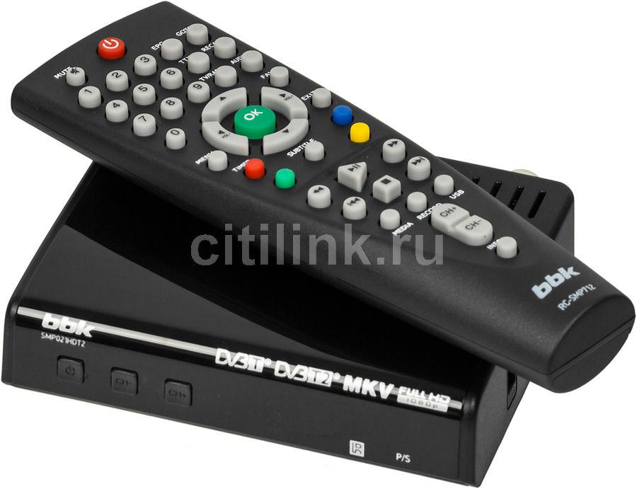 Ресивер DVB-T2 BBK SMP021HDT2 черный (отремонтированный)