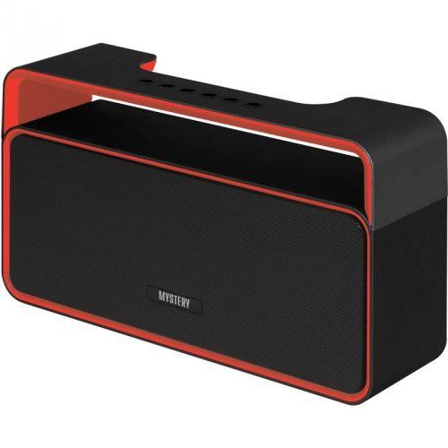 Аудиомагнитола MYSTERY MBA-613UB,  черный и красный