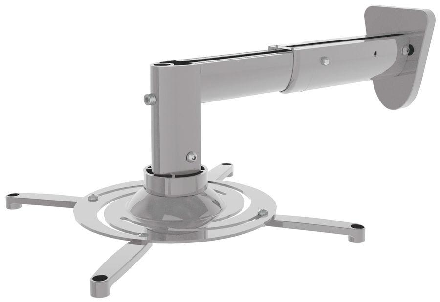 Кронштейн для проектора Cactus CS-VM-PR05B-AL серебристый макс.10кг настенный и потолочный поворот и
