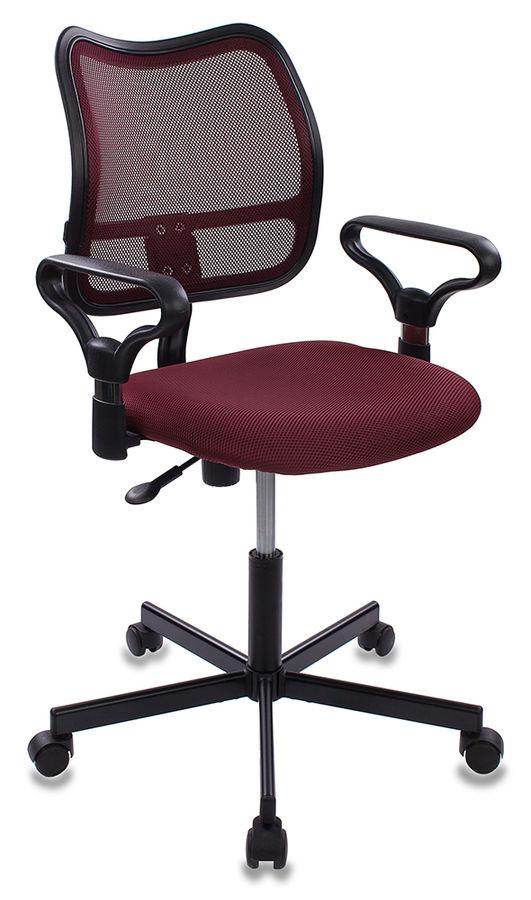 Кресло БЮРОКРАТ CH-799M, на колесиках, ткань, темно-бордовый [ch-799m/ch/tw-13n]