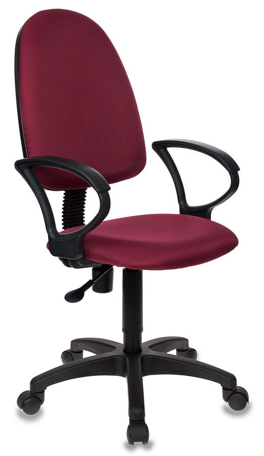 Кресло БЮРОКРАТ CH-1300, на колесиках, ткань, бордовый/черный [ch-1300/cherry]