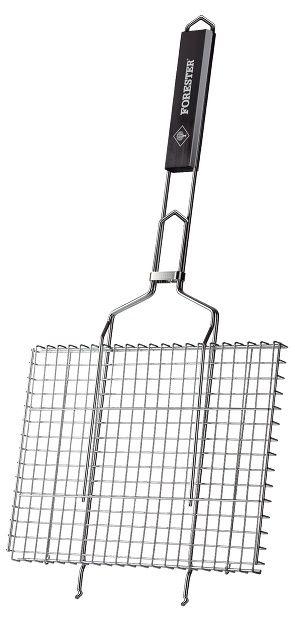 Решетка-гриль для барбекю Forester BQ-N01 средняя прямоугольная 26х35см (мех. повреждения)