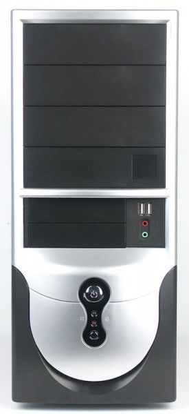 Корпус ATX FOXCONN TLA-397, 350Вт,  черный и серебристый