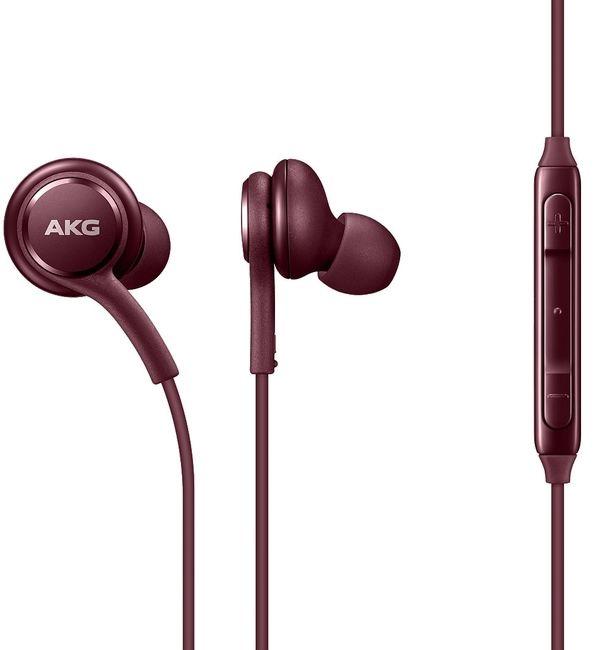 Гарнитура SAMSUNG Earphones Tuned by AKG, вкладыши,  бургунди, проводные