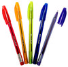 Ручка шариковая Silwerhof DROP BRIGHT (026150-02) 1.0мм треугол. черн.на масл.основе ассорти синие ч вид 1