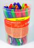 Ручка шариковая Silwerhof DROP BRIGHT (026150-02) 1.0мм треугол. черн.на масл.основе ассорти синие ч вид 2