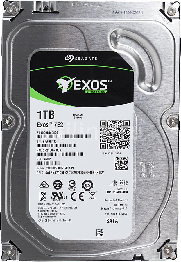 Жесткий диск SEAGATE Enterprise Capacity ST1000NM0008,  1Тб,  HDD,  SATA III,  3.5
