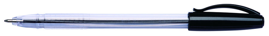Ручка шариковая Deli ES307black 1мм прозрачный черные чернила