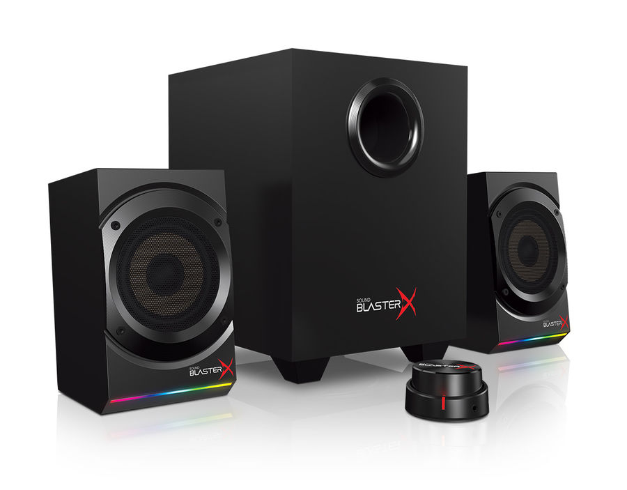 Колонки CREATIVE Sound BlasterX Kratos S5,  черный [51mf0470aa000]