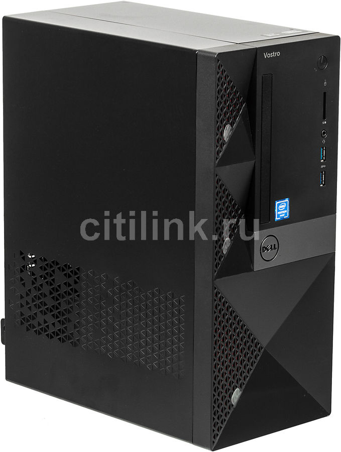 Компьютер  DELL Vostro 3667,  Intel  Pentium  G4400,  DDR4 4Гб, 500Гб,  Intel HD Graphics 510,  CR,  Windows 10 Home,  черный [3667-0727]
