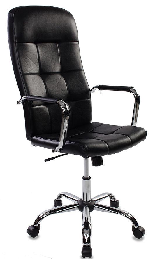 Кресло руководителя БЮРОКРАТ CH-909, на колесиках, искусственная кожа, черный [ch-909/black]
