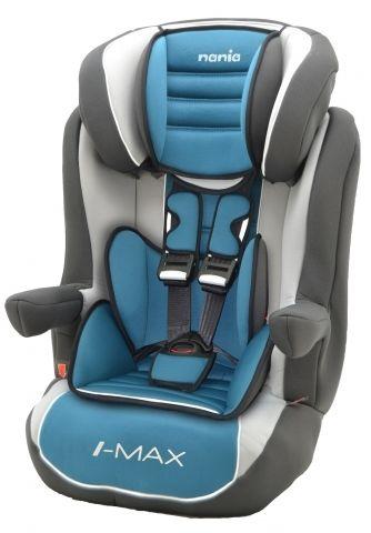 Автокресло детское NANIA Imax SP LX (agora petrole), 1/2/3, голубой/серый [923009]