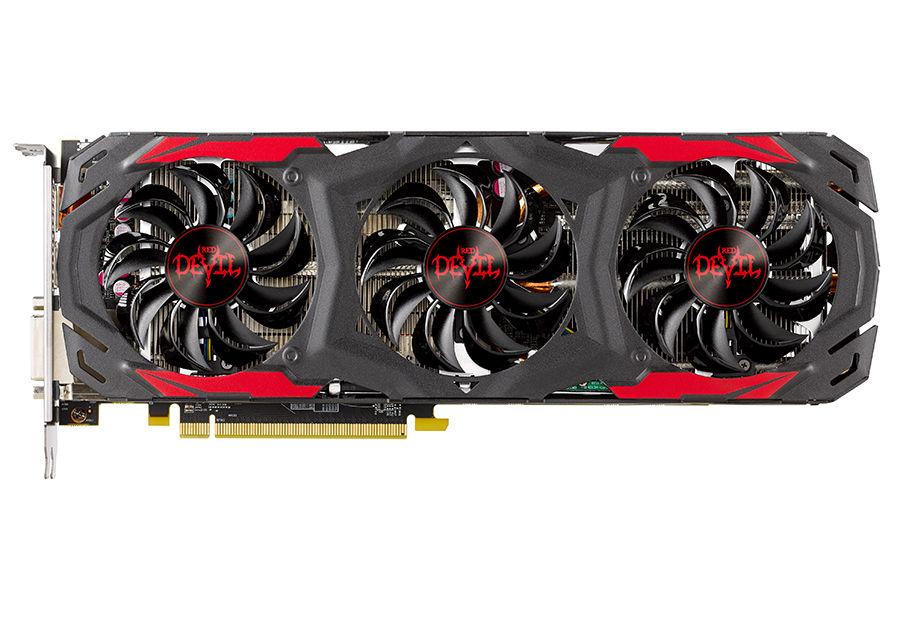 Видеокарта PowerColor PCI-E AXRX 570 4GBD5-3DH/OC Red Devil AMD RX570 4096Mb 256b GDDR5 1320/70(Б/У)