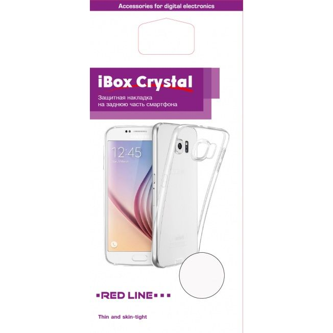 Чехол (клип-кейс) REDLINE iBox Crystal, для Samsung Galaxy J3 (2017), прозрачный [ут000010403]