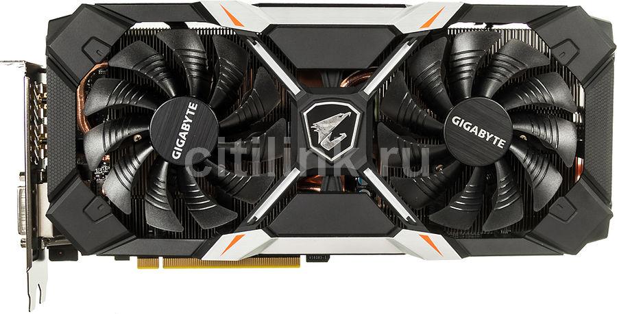 Видеокарта GIGABYTE GeForce GTX 1060,  GV-N1060AORUS X-6GD,  6Гб, GDDR5, OC,  Ret