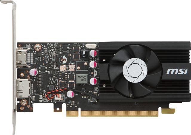 Видеокарта MSI nVidia  GeForce GT 1030 ,  GeForce GT 1030 2G LP OC,  2Гб, GDDR5, Low Profile,  OC,  Ret