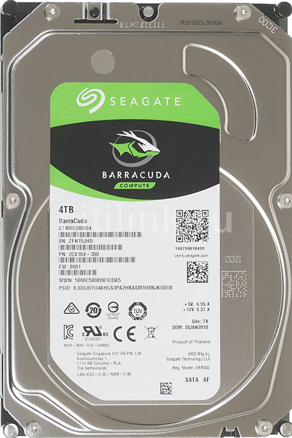 Жесткий диск SEAGATE Barracuda ST4000DM004,  4Тб,  HDD,  SATA III,  3.5