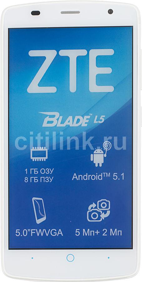 Смартфон ZTE L5 Blade 8Gb белый моноблок 3G 2Sim 5