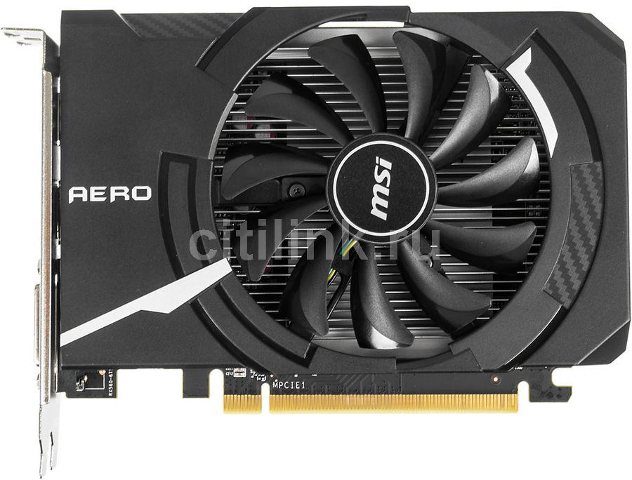 Видеокарта MSI Radeon RX 560,  RX 560 AERO ITX 4G OC,  4Гб, GDDR5, OC,  Ret