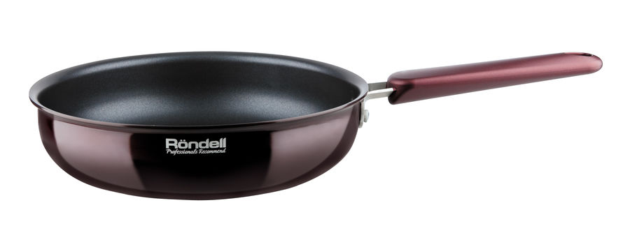 Сковорода RONDELL Bojole 0786-RD-01, 24см, без крышки,  бордовый