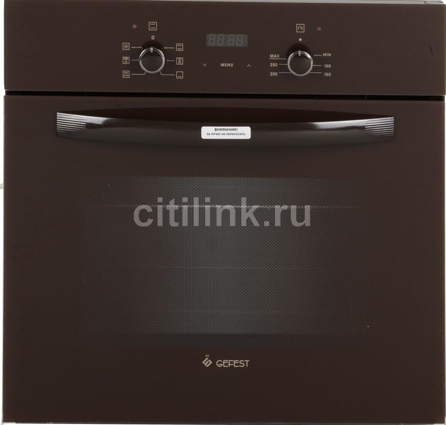 Духовой шкаф GEFEST ЭДВ ДА 622-02 К,  коричневый