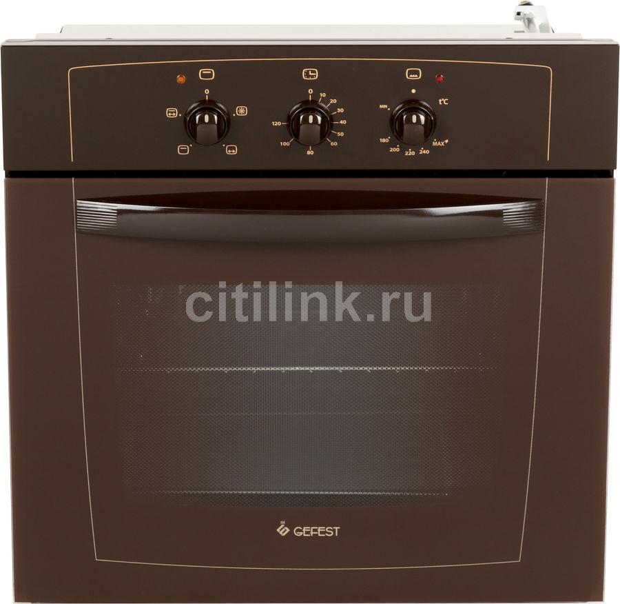 Духовой шкаф GEFEST ДГЭ 601-01 К,  коричневый [85460]