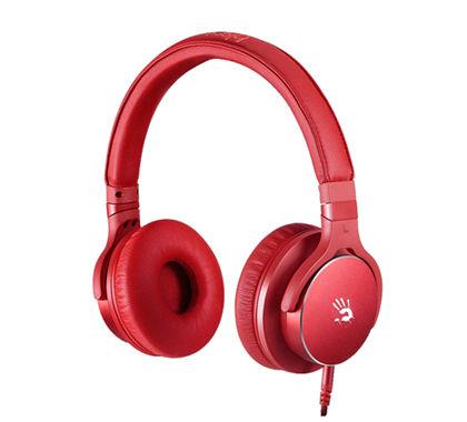 Наушники с микрофоном A4 Bloody M510,  мониторы, красный