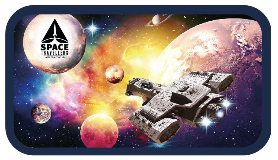 Пенал Silwerhof 850919 Космический полет 2отд. 190х110х35мм ламин.карт.