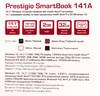 "Ноутбук PRESTIGIO SmartBook 141A03, 14.1"", Intel  Atom  Z3735F 1.33ГГц, 2Гб, 32Гб SSD,  Intel HD Graphics , Windows 10 Professional, PSB141A03BFPMB,  черный вид 15"