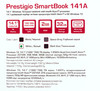 "Ноутбук PRESTIGIO SmartBook 141A03, 14.1"", Intel  Atom  Z3735F 1.33ГГц, 2Гб, 32Гб SSD,  Intel HD Graphics , Windows 10 Professional, PSB141A03BFPMW,  белый вид 15"