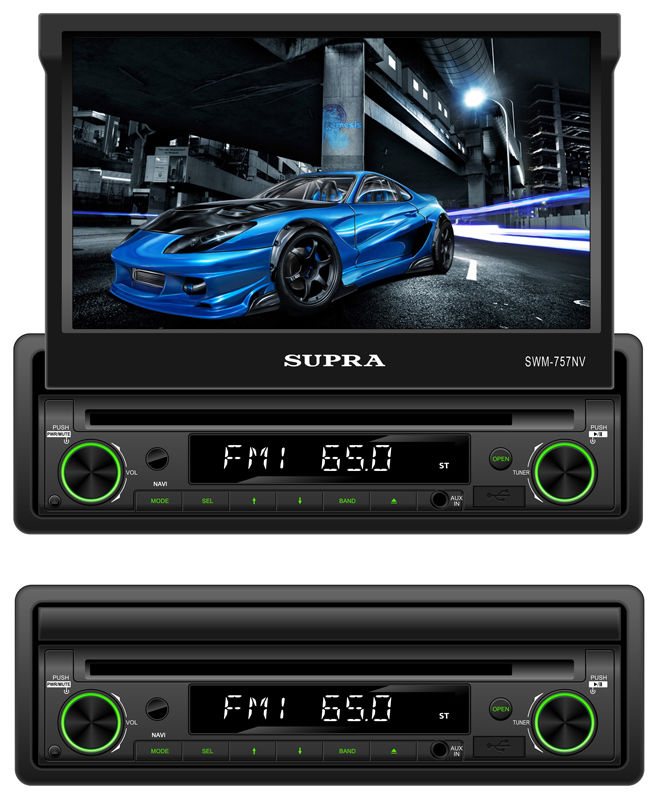 Автомагнитола SUPRA SWM-757NV,  USB,  SD/MMC