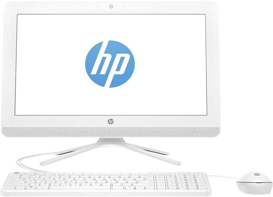 Моноблок HP 20-c038ur, Intel Celeron J3060, 4Гб, 500Гб, Intel HD Graphics 400, DVD-RW, Windows 10, белый [1ee38ea]