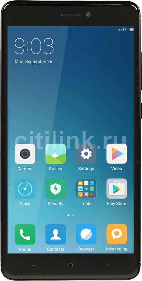 Смартфон XIAOMI Redmi Note 4 64Gb (Global version),  черный