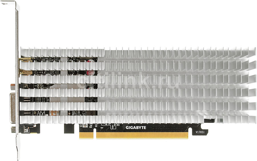 Видеокарта GIGABYTE GeForce GT 1030,  GV-N1030SL-2GL,  2Гб, GDDR5, Low Profile,  Ret
