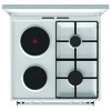 Газовая плита GORENJE K6121WG,  электрическая духовка,  белый вид 4