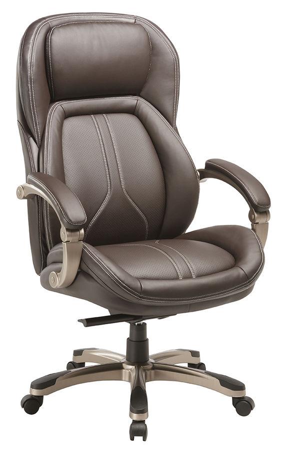 Кресло руководителя БЮРОКРАТ T-9919, на колесиках, рециклированная кожа/кожзам [t-9919/brown]