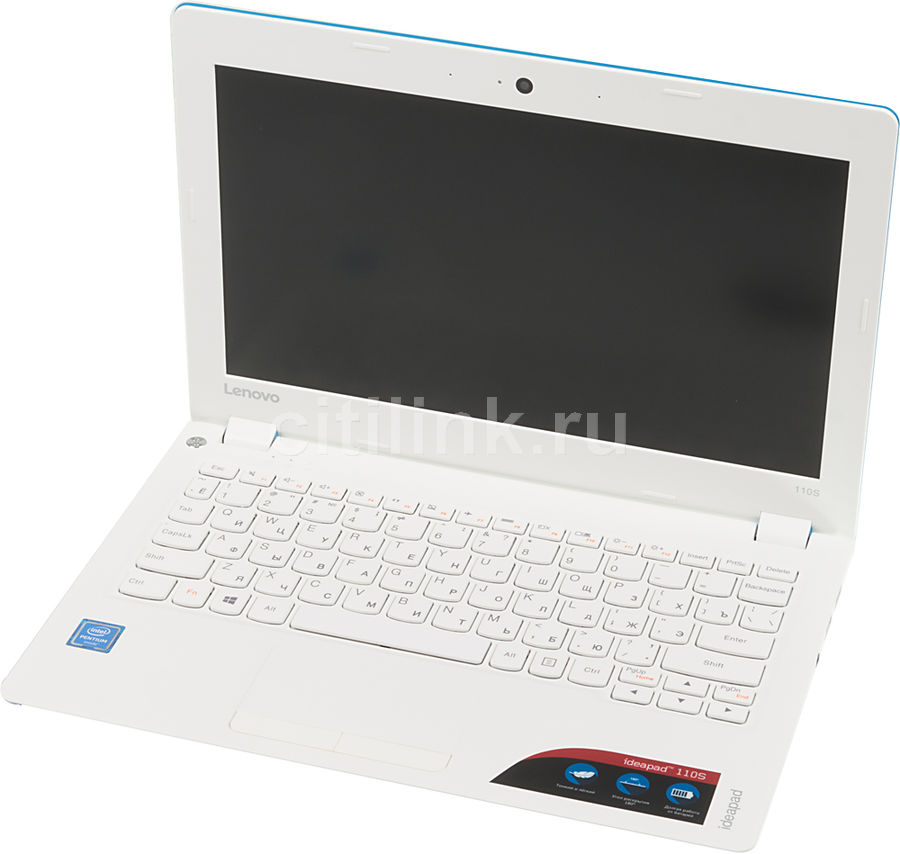 """Ноутбук Lenovo IdeaPad 110S-11IBR Pen N3710/4Gb/SSD128Gb/405/11.6""""/HD/DOS/blue/WiF (отремонтированный)"""
