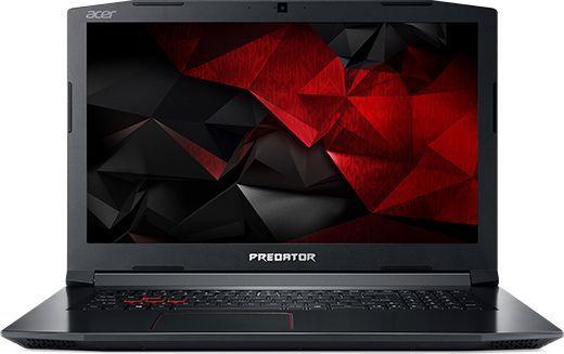 "Ноутбук ACER Predator Helios 300 PH317-51-70SY, 17.3"", Intel  Core i7  7700HQ 2.8ГГц, 16Гб, 1000Гб, 128Гб SSD,  nVidia GeForce  GTX 1050 Ti - 4096 Мб, Linux, NH.Q2MER.005,  черный"
