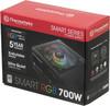 Блок питания Thermaltake ATX 700W Smart RGB 700 80+ (24+4+4pin) APFC 120mm fan col (плохая упаковка) вид 9