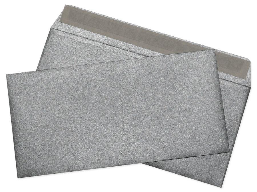 Конверт Cocktail 52120MS.1 E65 110x220мм серебристый металлик силиконовая лента 120г/м2 (pack:1pcs)